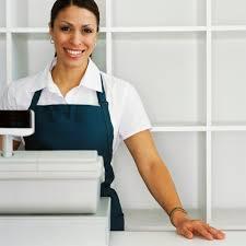 friendly cashier