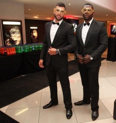 Handsome hosts to welcome the guests!
