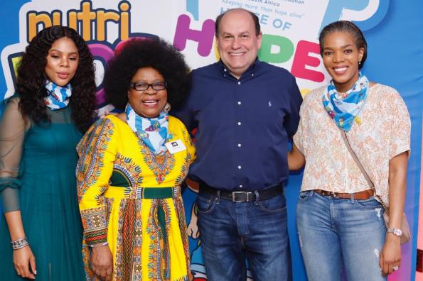Olwethu Leshabane, Lillian Dube, Marcelo Palmeiro and Connie Ferguson