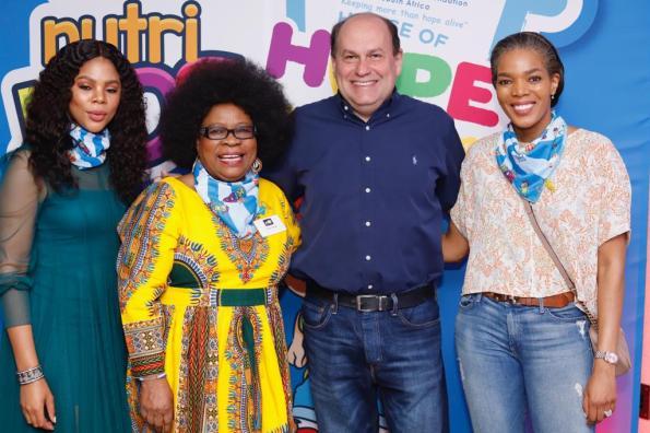 Olwethu Leshabane, Lillian Dube, Marcelo Palmeiro and Connie Ferguson