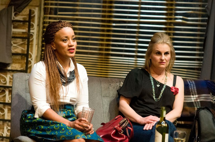Renate Stuurman (Namhla) Charmaine Weir-Smith (Shanell) in Suddenly The Storm. Photo Credit_Suzy Bernstein