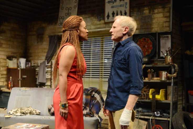 Renate Stuurman (Namhla) Paul Slabolepszy (Dwayne) in Suddenly The Storm. Photo Credit_SuzyBernstein (1)